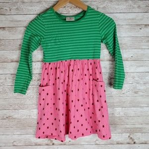 Hanna Andersson Ladybug Striped Dress